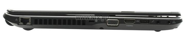 Packard bell easynote nx86-ju-100, вид раскрытого ноутбука сзади