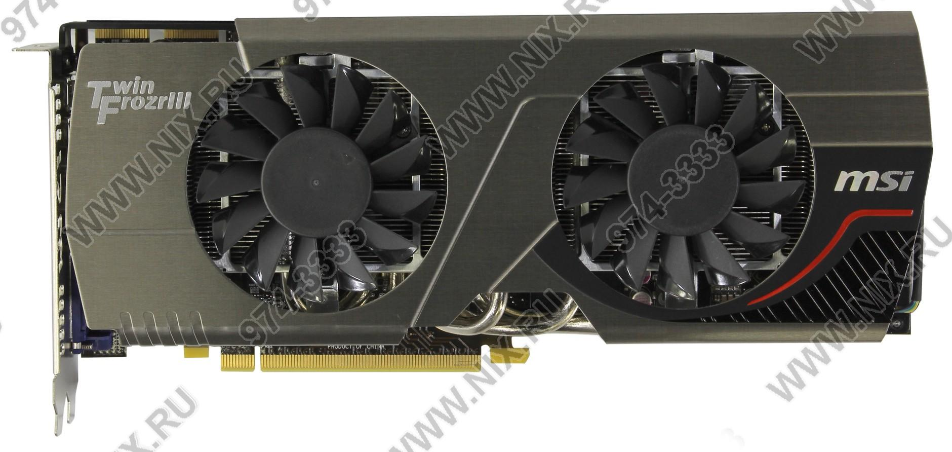 Видеокарта pci-e 3072мб msi r7970 tf 3gd5/oc be (radeon hd 7970, ddr5, dvi, hdmi, 2x minidp) (ret) 115517