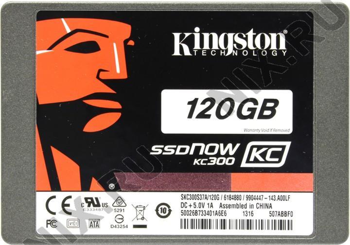 "SSD 120 Gb SATA 6Gb/s Kingston SSDNow KC300 SKC300S3B7A/120G 2.5"" + EXT BOX USB"