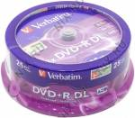 DVD+R Disc Verbatim   8.5Gb  8x  <уп. 25 шт> Double Layer, на шпинделе <43757>