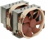 Noctua NH-D15 Cooler (4пин, 1155 / 1366 / 2011 / AM2 / AM3 / FM1, 19.2-24.6 дБ, 300-1200 об / мин, Al+тепл.трубки)