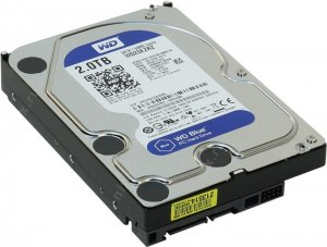 "HDD 2 Tb SATA 6Gb / s Western Digital Blue < WD20EZRZ > 3.5"" 5400rpm 64Mb"