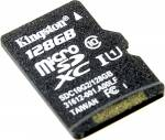 Kingston < SDC10G2 / 128GBSP > microSDXC Memory Card 128Gb UHS-I U1 Class10