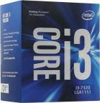 CPU Intel Core i3-7320 BOX 4.1 GHz / 2core / SVGA HD Graphics 630 / 4Mb / LGA1151