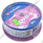 DVD+R Disc Verbatim   4.7Gb  16x   <уп. 25 шт.>  на шпинделе  <43500>