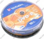 DVD-R Disc Verbatim   4.7Gb  16x   <уп. 10 шт.>  на шпинделе  <43523>