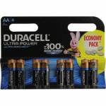 Duracell ULTRA POWER MX1500-8 (LR6) Size AA,  1.5V,щелочной(alkaline)  <уп. 8  шт>