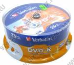 DVD-R Disc Verbatim   4.7Gb  16x   <уп. 25 шт.>  на шпинделе,  printable  <43538>