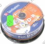 Mini DVD-R Disc Verbatim   1.4Gb  4x  <уп. 10 шт.>  на шпинделе,  printable  <43573>