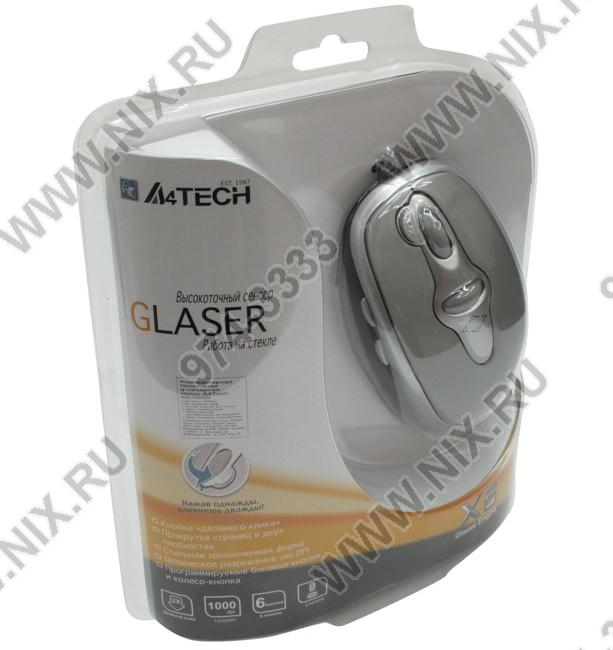 A4-tech glaser mouse x6-90d (rtl) usb 6btn+2roll